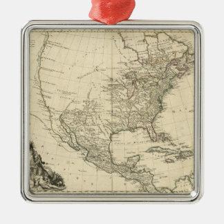 Adorno Metálico Mapa viejo de Norteamérica (1783)