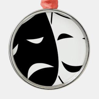 Adorno Metálico Máscara de la comedia y de la tragedia