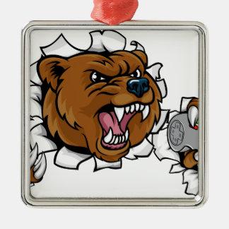 Adorno Metálico Mascota enojada de Esports del oso