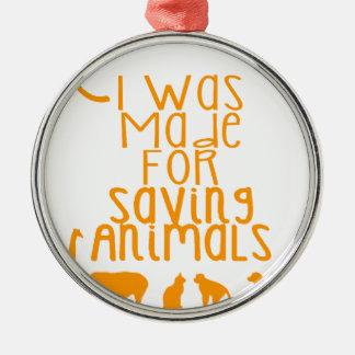 Adorno Metálico Me hicieron para los animales de ahorro