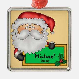 Adorno Metálico Mensaje de Papá Noel personalizado