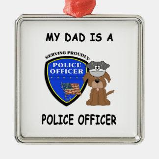 Adorno Metálico Mi papá de la policía