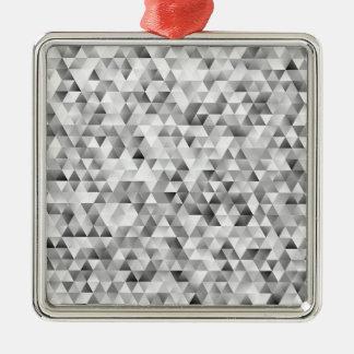 Adorno Metálico Modelo gris del triángulo