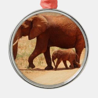 Adorno Metálico Momia y Cub del elefante