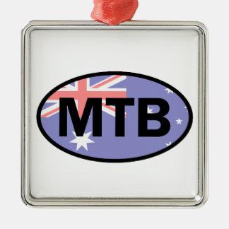 Adorno Metálico Montaña Biking la bandera de Australia