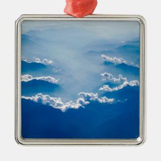 Adorno Metálico Montañas y nubes