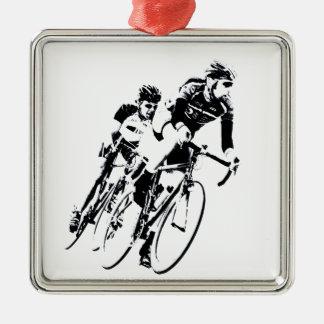 Adorno Metálico Monte en bicicleta a los corredores en la vuelta