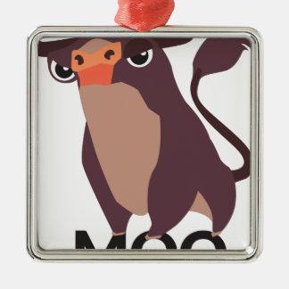 Adorno Metálico MOO, diseño malo de la vaca