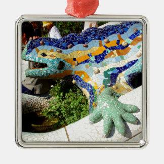 Adorno Metálico Mosaicos del lagarto de Gaudi