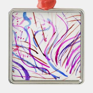 Adorno Metálico Movimientos coloridos 4 de la pintura