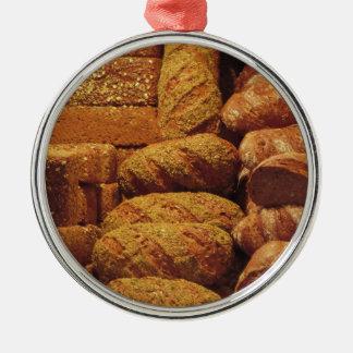 Adorno Metálico Muchos panes mezclados y fondo de los rollos