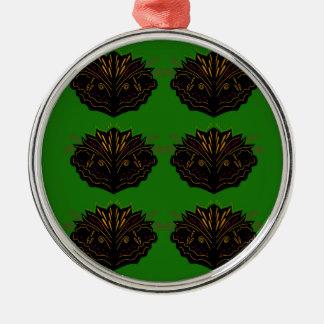 Adorno Metálico Negro verde de Eco de los elementos del diseño