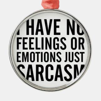 Adorno Metálico Ningunas sensaciones o emociones