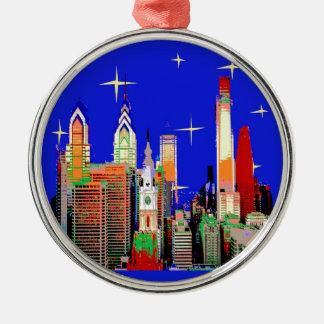 Adorno Metálico Noche estrellada Philadelphia, cielo abstracto con