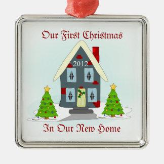 Adorno Metálico Nuestro primer navidad en nuevo día de fiesta