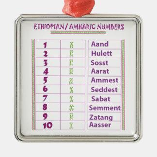Adorno Metálico Números etíopes/del Amharic