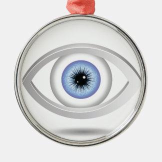 Adorno Metálico ojo azul