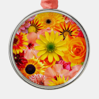 Adorno Metálico Orange flowers_ Gloria Sanchez