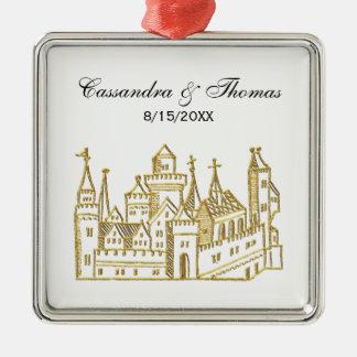Adorno Metálico Oro del escudo heráldico del castillo #2 del
