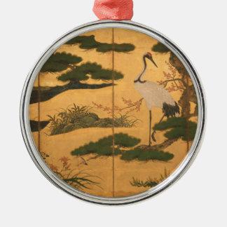 Adorno Metálico Pájaros y flores de las cuatro estaciones