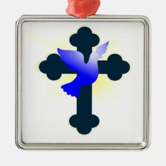 Adorno Metálico Paloma y cruz