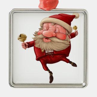 Adorno Metálico Papá Noel y el baile de la campana