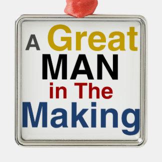 Adorno Metálico para los muchachos y los niños - gran hombre en la