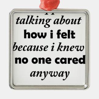 Adorno Metálico paré el hablar de cómo sentía porque sabía