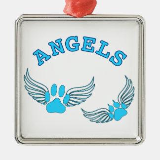 Adorno Metálico Patas del mascota del ángel en azul
