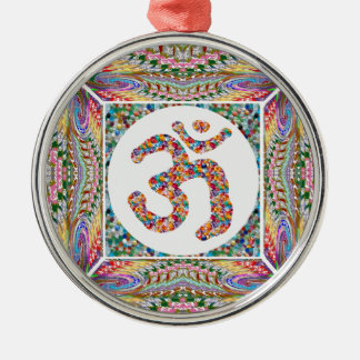 Adorno Metálico Paz del indio de la yoga del Hinduism de OmMantra