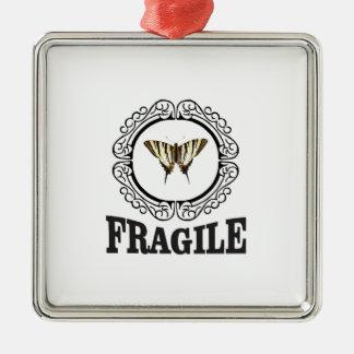 Adorno Metálico Pegatina frágil de la mariposa