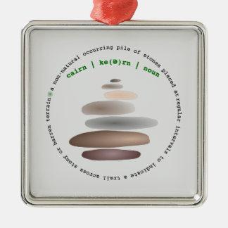 Adorno Metálico Piedra apilada mojón