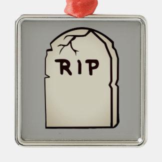 Adorno Metálico piedra sepulcral R.I.P