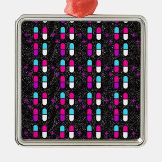 Adorno Metálico píldoras rosadas del brillo