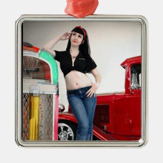 Adorno Metálico Pin de coche de carreras del garaje del Rockabilly