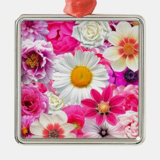Adorno Metálico Pink flowers_ Gloria Sanchez