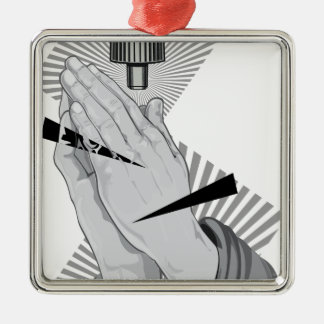 Adorno Metálico Pintada de rogación de las manos
