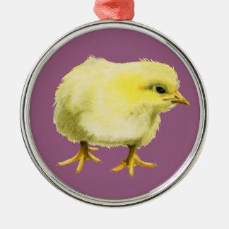 Adorno Metálico Pintura de la acuarela del polluelo