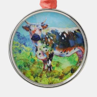 Adorno Metálico Pintura de la vaca de Randall Lineback