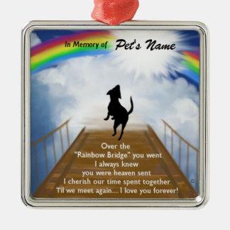 Adorno Metálico Poema conmemorativo del puente del arco iris para