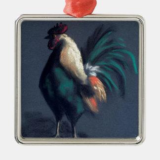 Adorno Metálico Pollo en colores pastel del gallo