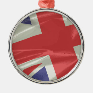 Adorno Metálico Primer de seda de la bandera de Union Jack
