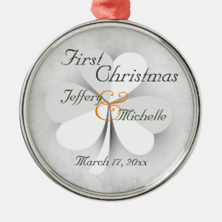 Adorno Metálico Primer navidad personalizado del irlandés