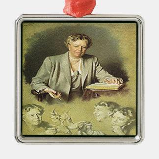 Adorno Metálico Primera señora Ana Eleanor Roosevelt