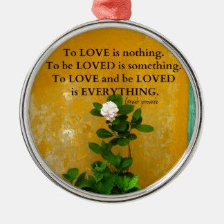 Adorno Metálico proverbio del Griego de la cita del amor del