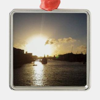 Adorno Metálico Puesta del sol de Londres