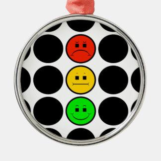 Adorno Metálico Puntos negros cambiantes de la luz de parada w