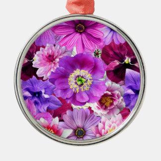 Adorno Metálico Purple flowers