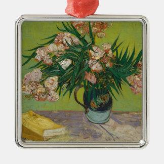 Adorno Metálico Ramo de flores rosadas en florero