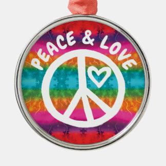 Adorno Metálico Rayas del teñido anudado de la paz y del amor